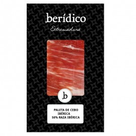 Traditionally-sliced Cebo Iberian Shoulder from Extremadura 100g. BERÍDICO