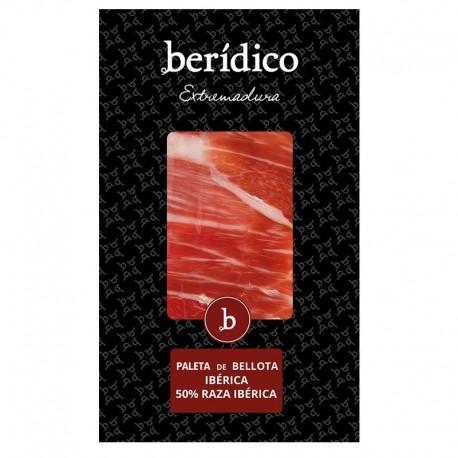 Traditional-sliced Acorn-fed Iberian Shoulder from Extremadura 100g. BERÍDICO