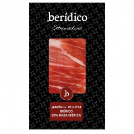 Traditionally-sliced Iberian Acorn Ham from Extremadura 100g BERÍDICO