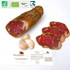 Organic Acorn-fed 100% Iberian Pig Presa from Huelva Dehesa Maladúa