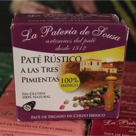 Paté Ibérico Rústico a las Tres Pimientas de Extremadura La Patería de Sousa 70g