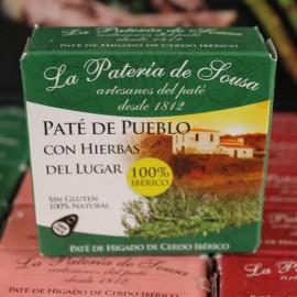 Paté Ibérico De Pueblo con Hierbas del Lugar de Extremadura La Patería de Sousa 70g