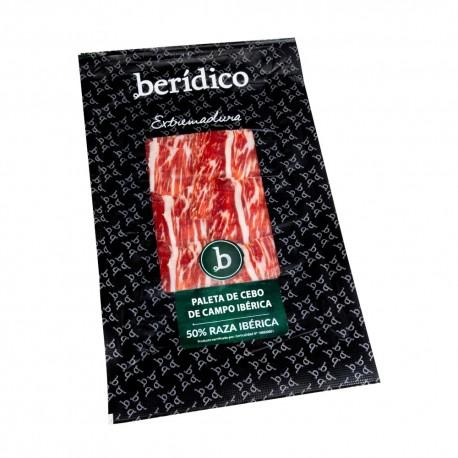 Hand-sliced Cebo Campo Iberian Shoulder from Extremadura BERÍDICO 100g.