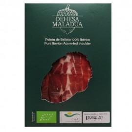 Sliced Organic Acorn-fed 100% Iberian Shoulder-ham from Huelva Dehesa Maladúa