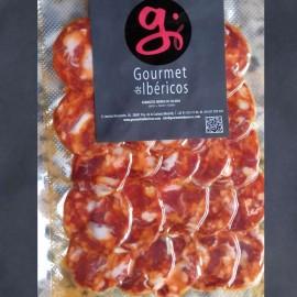 Sliced Extra Quality Iberian Cular Chorizo from Extremadura 100g. GOURMETDEIBERICOS