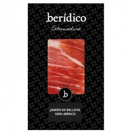 Hand-sliced D.O. Acorn-fed 100% Iberian Ham from Extremadura 100g. BERÍDICO