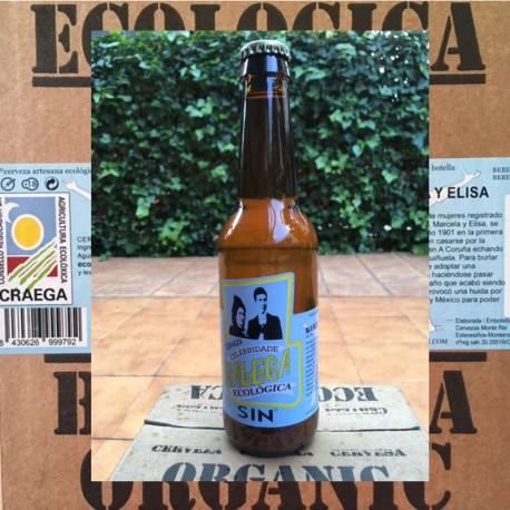 Ecologic Craft Beer Blonde without alcohol Celebridade Galega  (Box)